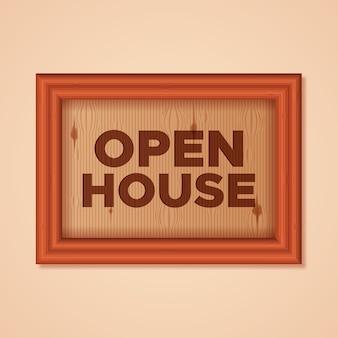 Muestra de la casa abierta concepto inmobiliario