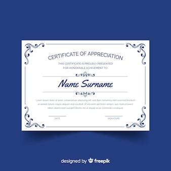 Muestra certificado clásico