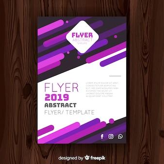 Muestra flyer abstracto barras