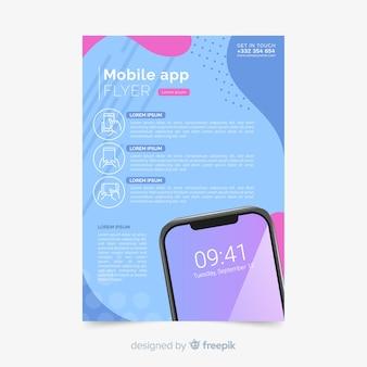Muestra flyer app móvil