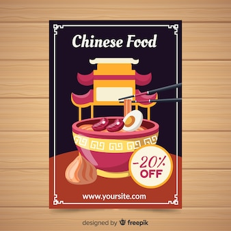 Muestra flyer comida china