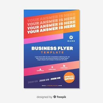 Muestra flyer negocios colorido