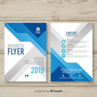 Muestra flyer negocios moderno