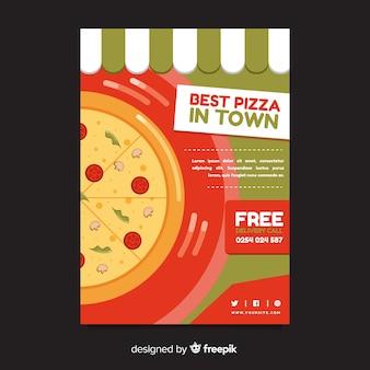Muestra flyer plano pizza
