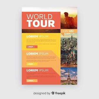 Muestra folleto fotográfico viajes