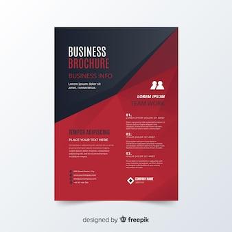 Muestra folleto negocios