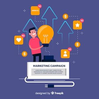Muestra fondo campaña márketing