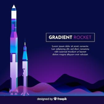 Muestra fondo cohete degradado