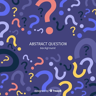 Muestra fondo pregunta abstracta