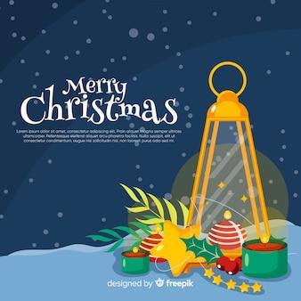 Muestra fondo velas navidad