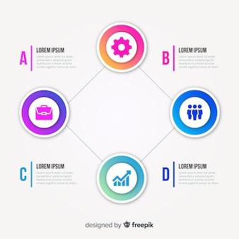 Muestra infografía plana