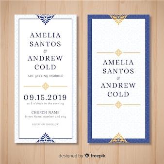 Muestra invitación boda adorno