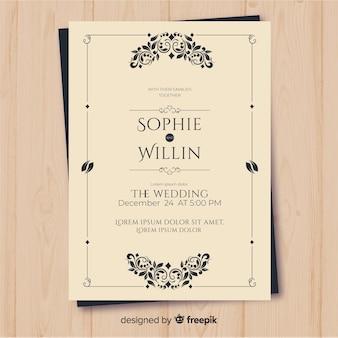 Muestra invitación boda vintage