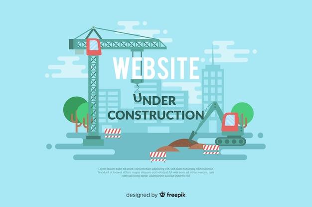 Muestra landing page en construcción