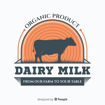 Muestra logo leche orgánica