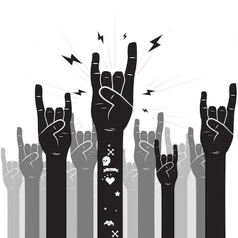 Muestra de la mano del rock-and-roll