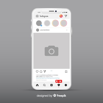 Muestra de marco de fotos de instagram en iphone