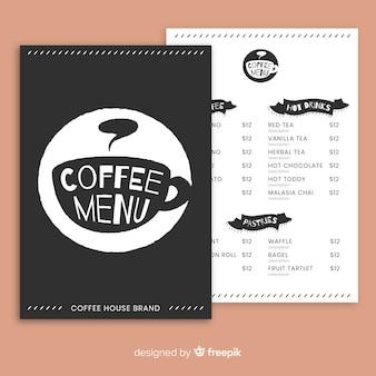 Muestra menú café