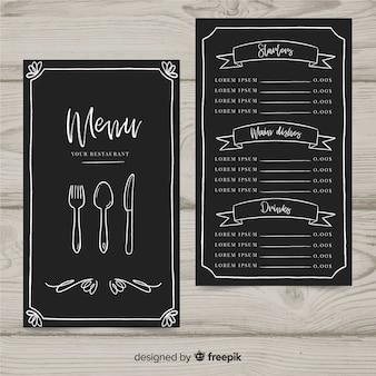 Muestra menú restaurante