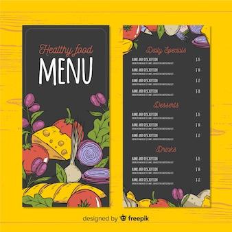 Muestra menú saludable comida colorida