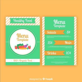 Muestra menú saludable simple