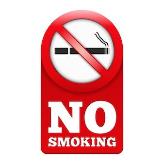 Muestra de no fumadores, vector eps10 ilustración
