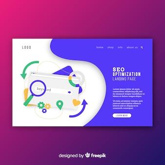 Muestra página de destino optimización en buscadores