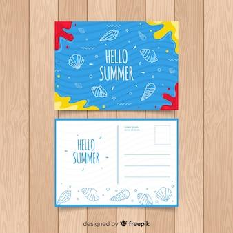 Muestra postal vacaciones de verano