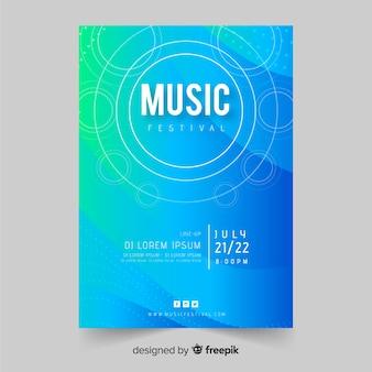 Muestra póster degradado festival de música