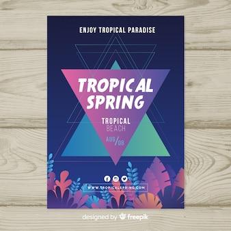 Muestra póster fiesta primavera