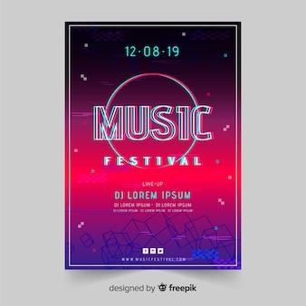 Muestra póster glitch festival de música