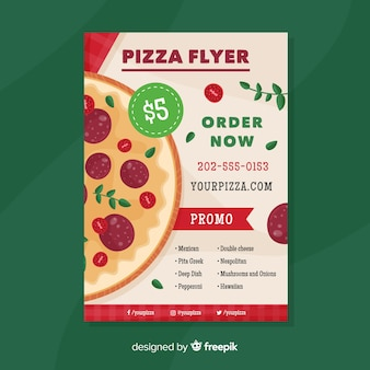 Muestra póster pizza