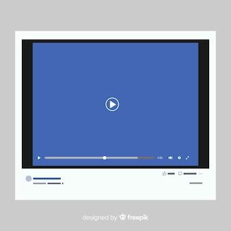 Muestra reproductor multimedia realista