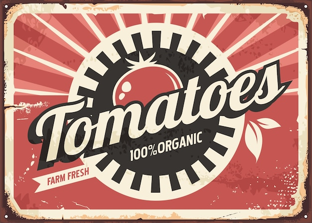 Muestra retro tomates