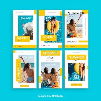 Muestra stories de instagram rebajas de verano