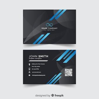 Muestra tarjeta negocios barras