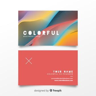 Muestra tarjeta negocios colorida