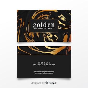 Muestra tarjeta negocios dorada