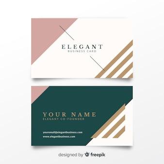 Muestra tarjeta negocios elegante