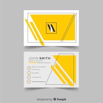 Muestra tarjeta negocios geométrica