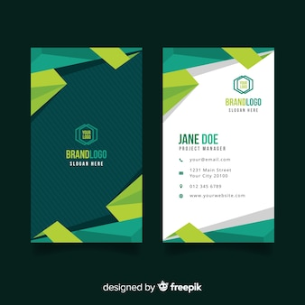 Muestra tarjeta de negocios geométrica