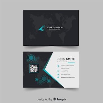 Muestra tarjeta negocios mapa