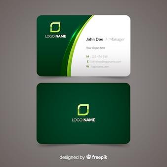 Muestra tarjeta negocios plana