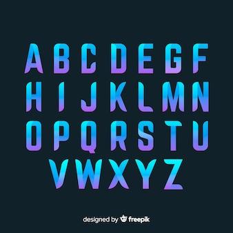 Muestra tipografía degradada