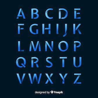 Muestra tipografía degradado monocromático