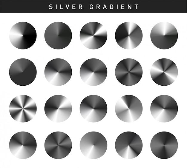 Muestras de plata vibrantes gradientes liberados