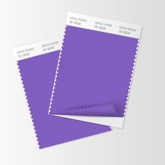 Muestras de tejido, plantilla de muestra textil.