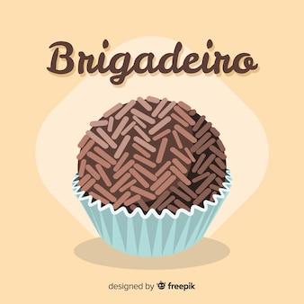 Muffins de chocolate adorables dibujados a mano