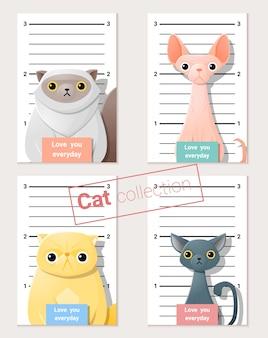 Mugshot de gatos lindos