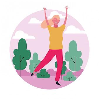 Mujer bailando avatar